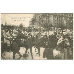 carte postale ancienne 57 METZ. Etat Major de Pétain entre à Metz en 1918. Soldats et Militaires