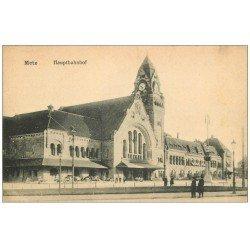 carte postale ancienne 57 METZ. La Gare 1918 Hauptbahnof