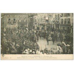 carte postale ancienne 57 MORHANGE. Corps d'Armée du Général Passaga en 1918