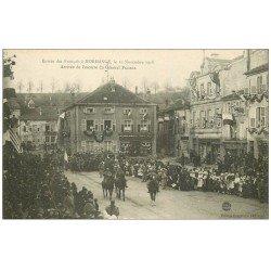 carte postale ancienne 57 MORHANGE. Escorte du Général Passaga en 1918