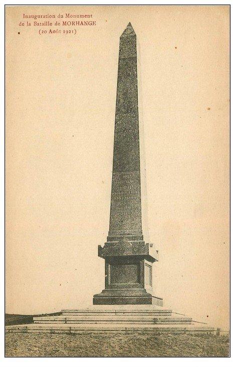 carte postale ancienne 57 MORHANGE. Monument de la Bataille