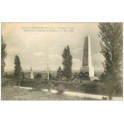 carte postale ancienne 57 MORHANGE. Tombes des 4° Bataillons de Chasseurs et 37° Régiment d'Infanterie