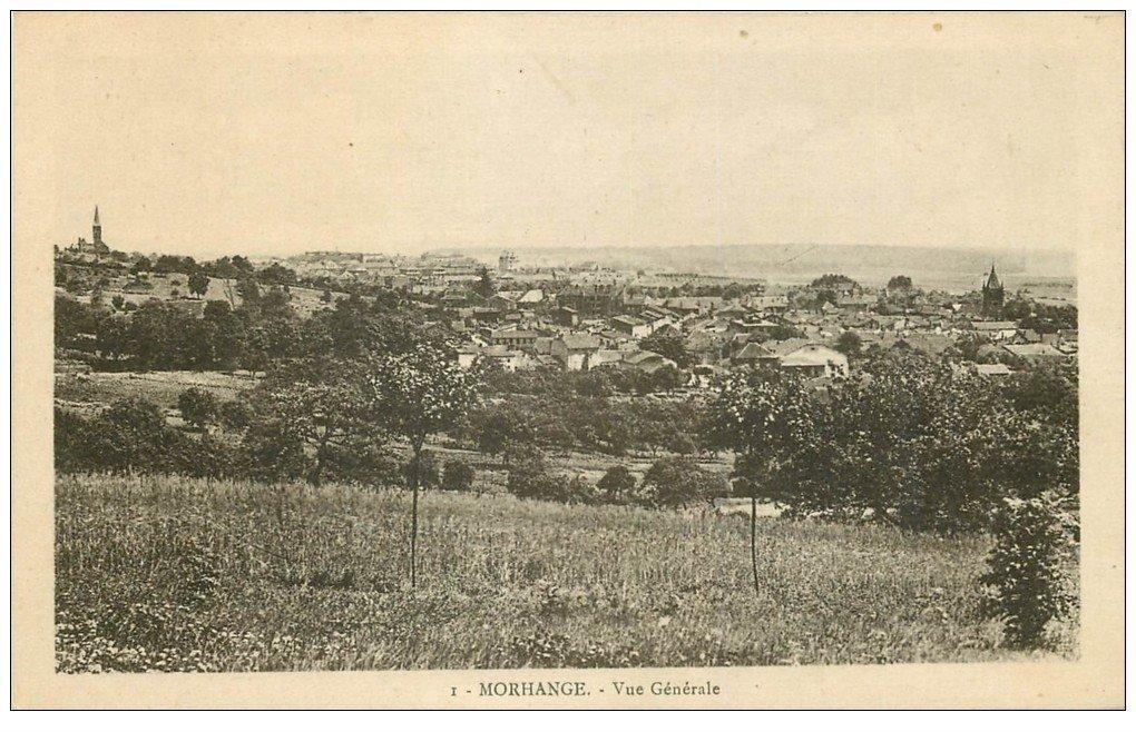 carte postale ancienne 57 MORHANGE. Vue 1925
