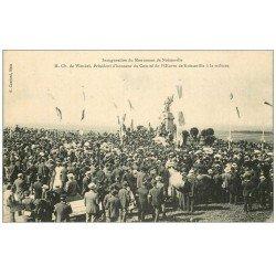 carte postale ancienne 57 NOISSEVILLE. Inauguration du Monument avec Wendel