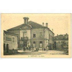 carte postale ancienne 57 NOVEANT. La Mairie et Boulangerie Epicerie