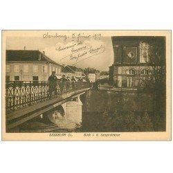 carte postale ancienne 57 SARREBOURG SAARBURG. Blick Langestrasse 1919