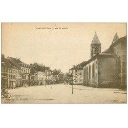 carte postale ancienne 57 SARREBOURG. Place du Marché 1919