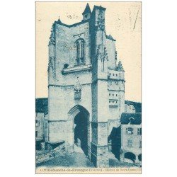 carte postale ancienne 12 VILLEFRANCHE-DE-ROUERGUE. Clocher de Notre-Dame 1928