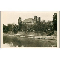 carte postale ancienne 57 THIONVILLE. L'Eglise. Carte Photo émaillographie
