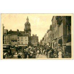carte postale ancienne 57 THIONVILLE. Place du Marché 1945