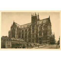 carte postale ancienne 57 METZ. Cathédrale Abside