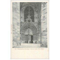 carte postale ancienne 12 VILLEFRANCHE-DE-ROUERGUE. Eglise Notre-Dame. Porte Portail