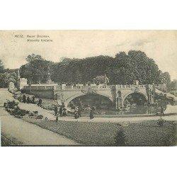 carte postale ancienne 57 METZ. Esplanade Nouvelle Fontaine 1908