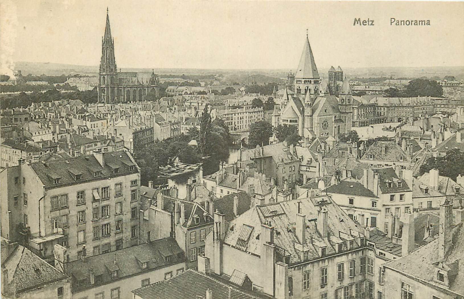 carte postale ancienne 57 METZ. Panorama