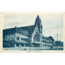 carte postale ancienne 57 METZ. La Gare Nouvelle