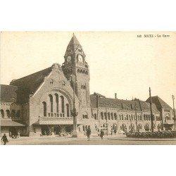 carte postale ancienne 57 METZ. La Gare 142