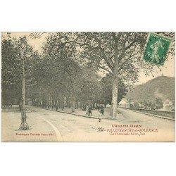 carte postale ancienne 12 VILLEFRANCHE-DE-ROUERGUE. La Promenade Saint-Jean 1910