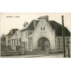 carte postale ancienne 02 COEUVRES. La Mairie