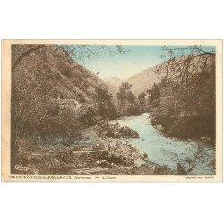 carte postale ancienne 12 VILLEFRANCHE-DE-ROUERGUE. L'Alzou 1937