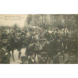 carte postale ancienne 57 METZ. L'Etat Major allié à la suite du Maréchal Pétain 1919