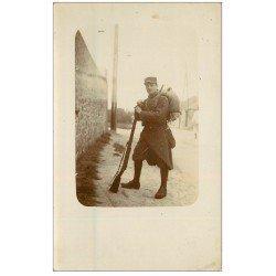 carte postale ancienne 12 VILLEFRANCHE-DE-ROUERGUE. Militaire Poilu. Rare Carte Photo vers 1910