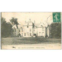carte postale ancienne 58 CHATEAU DE BIZY 1911