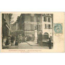 carte postale ancienne 12 VILLEFRANCHE-DE-ROUERGUE. Monument Sergent Bories 1904