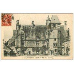 carte postale ancienne 58 CHATEAU DE VILLEMENANT 1907 près Guérigny animation