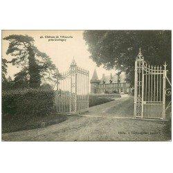 carte postale ancienne 58 CHATEAU DE VILLEMOLIN. Près Corbigny. La Grille