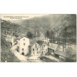 carte postale ancienne 12 VILLEFRANCHE-DE-ROUERGUE. Moulin Sept Meules