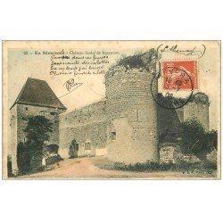 carte postale ancienne 58 CHATEAU FEODAL DE ROZEMONT 1908