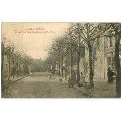 carte postale ancienne 58 CHATEAU-CHINON. Boulevard de la République 1906 (défaut)