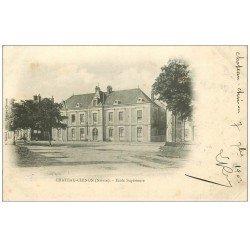 carte postale ancienne 58 CHATEAU-CHINON. Ecole supérieure 1903