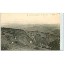 carte postale ancienne 58 CHATEAU-CHINON. Le Tacot d'Autun