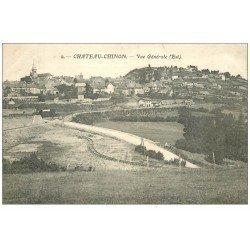 carte postale ancienne 58 CHATEAU-CHINON. Vue générale 1907