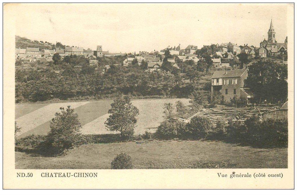 carte postale ancienne 58 CHATEAU-CHINON. Vue générale n° ND 50