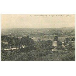 carte postale ancienne 58 CHATEAU-CHINON. Vue prise de Gravillot