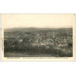 carte postale ancienne 58 CHATEAU-CHINON. Vue prise du Calvaire