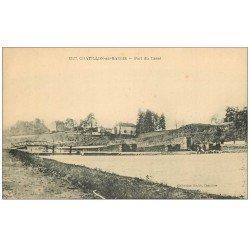 carte postale ancienne 58 CHATILLON-EN-BAZOIS. Port du Canal