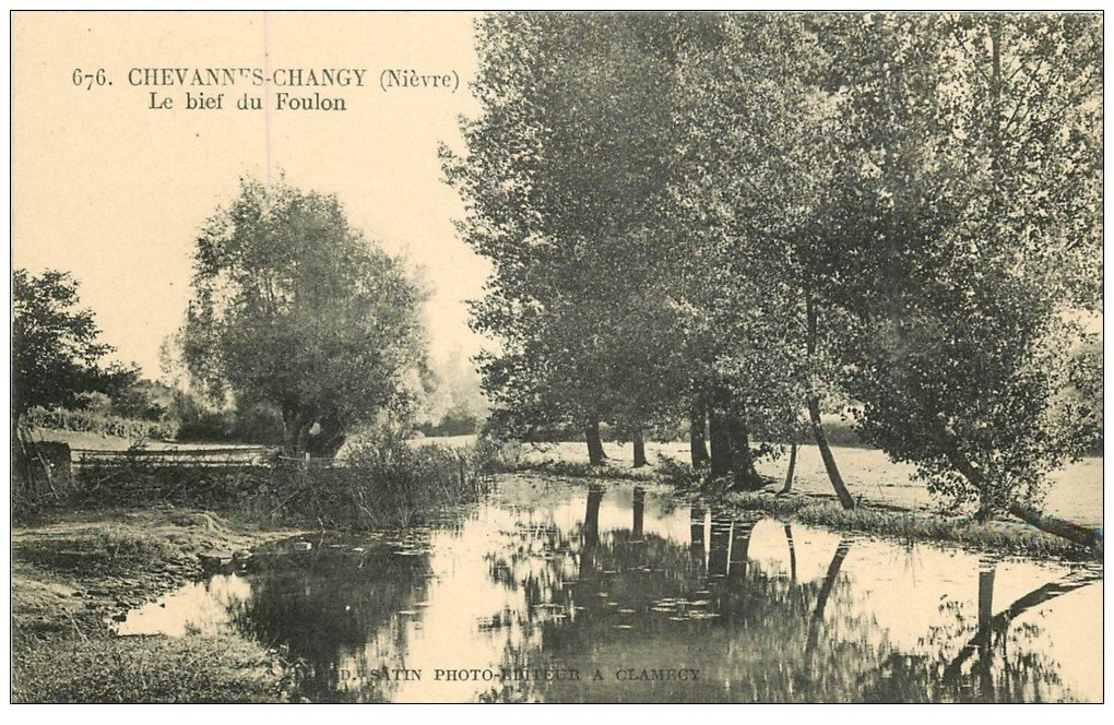carte postale ancienne 58 CHEVANNES-CHANGY. Le Bief du Foulon