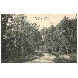 carte postale ancienne 58 CHEVANNES-CHANGY. Route de Clamecy