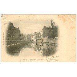 carte postale ancienne 58 CLAMECY. Canal et Pont Tournant 1904