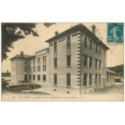 carte postale ancienne 58 CLAMECY. Ecole de Jeunes Filles 1920