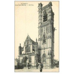 carte postale ancienne 58 CLAMECY. Eglise Saint-Martin