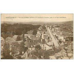 carte postale ancienne 58 CLAMECY. Le Collège et la Poste Quartier de l'Avenue 1923