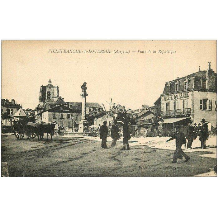 12 villefranche de rouergue place r publique 1919 for Aquilus piscine villefranche de rouergue