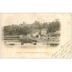 carte postale ancienne 58 CLAMECY. Le Perthuis avant canalisation de la Rivière 1905