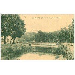 carte postale ancienne 58 CLAMECY. Le Pont de Fer 1935