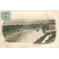 carte postale ancienne 58 CLAMECY. Le Port en 1869 avant derniers trains de bois 1904
