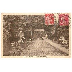 carte postale ancienne 58 COSNE-SUR-LOIRE. Bords du Nohain 1937. Liqueur Terrier